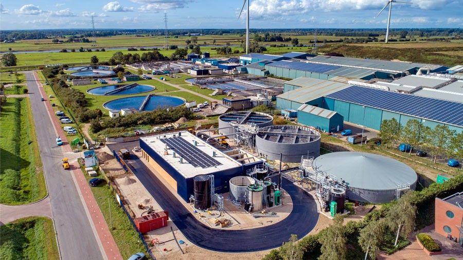 Kaumera grondstoffenfabriek van bovenaf